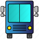bus, education, school, study, transport, vehicle icon