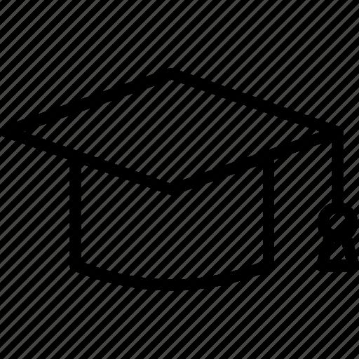 education, graduation, hat, science, student, university icon icon