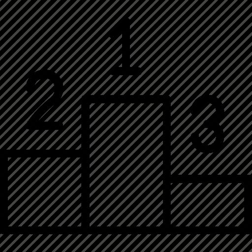 blocks, counting, podium, winners, winners podium icon icon icon