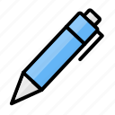 education, office material, pen, pen drive, school material, writing icon