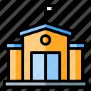 building, buildings, college, construction, education, high school, school icon