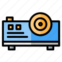 advisor, business and finance, education, electronics, projector, school, video projector icon