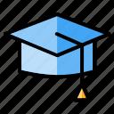 bachelor, college, degree, graduation, graduation cap, graduation hat, toga icon