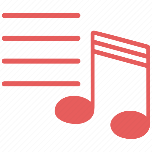 music, musical notes, sheet music icon