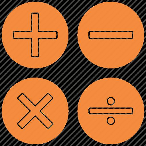 accountant, accounting, calculate, calculation, calculator, math, mathematics icon