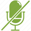 audio, mic, microphone, off icon