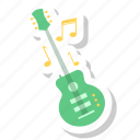 electric guitar, guitar, music, musician, sound icon