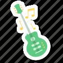 electric guitar, guitar, music, musician, sound icon