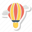 air balloon, balloon, cloud, fly, travel icon