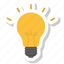 bulb light, idea, lamp icon