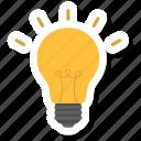 bulb light, idea, lamp icon