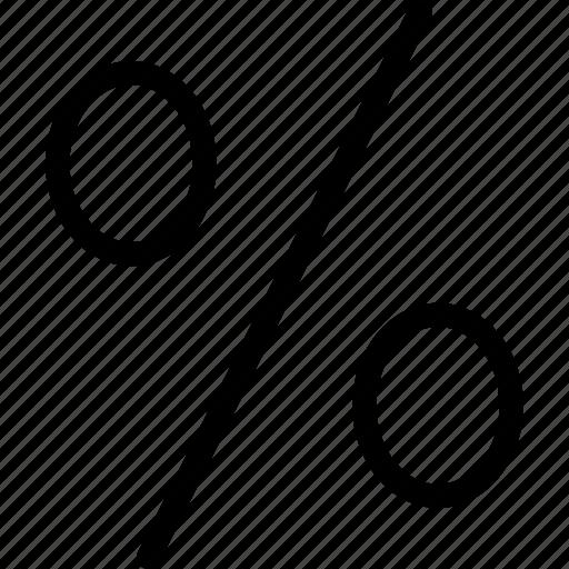 pct, per centum, percent, percent sign, percentage, percentage sign, ratio icon