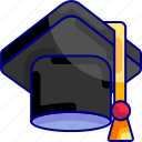 achievement, bukeicon, celebration, education, graduation, student, toga icon