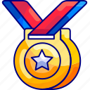 achievements, awards, bukeicon, education, gold, medal, stars icon