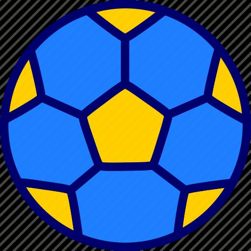 ball, football, soccer, vectoryland icon