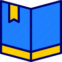books, education, knowledge, vectoryland icon
