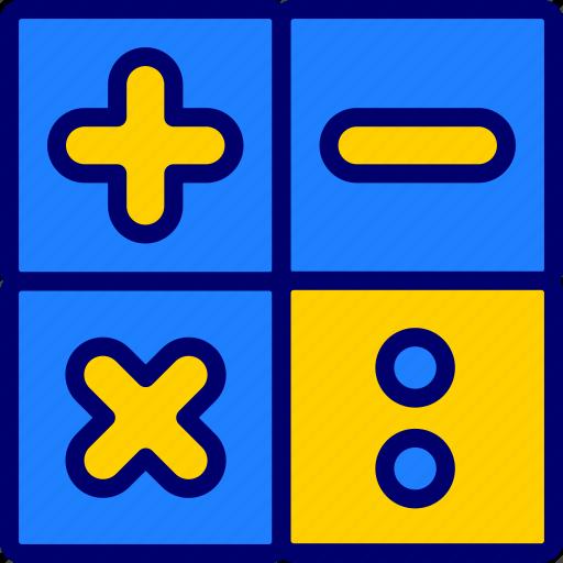calculation, calculator, count, logic, math, study, vectoryland icon