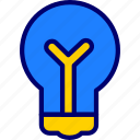 bulbs, idea, ideas, lamp, lights, vectoryland icon