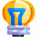 bukeicon, creativity, education, ideas, lights icon