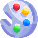 bukeicon, color, education, paint, pallete icon