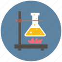 chemistry, experiment, fire, study, tube icon