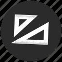 measure, meter, protractor, tool icon