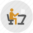 computer, job, study, task, work icon
