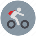 bicycle, bike, biker, motion, move, speed icon