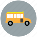 bus, education, school, schoolbus, travel icon