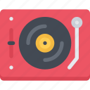 appliances, electronics, gadget, player, technology, vinyl icon