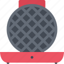 appliances, electronics, gadget, iron, technology, waffle icon