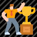 businessman, completer, finisher, trophy, worker