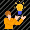 idea, mindset, presentation, think, thinking