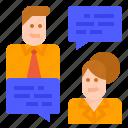 businessman, businesswoman, interpersonal, message, skills