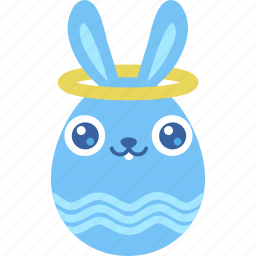 angel, bunny, easter, egg, emotion, good, halo icon