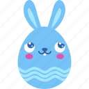 blush, bunny, easter, emoji, emotion, rabbit icon