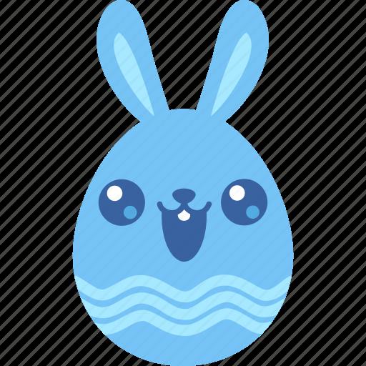 bunny, cute, easter, egg, emoji, kawai, rabbit icon