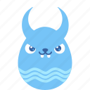 bad, bunny, demon, easter, egg, emoji, rabbit icon