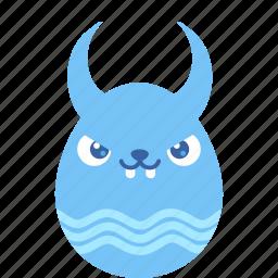 bad, bunny, demon, easter, egg, emoji, rabbit icon