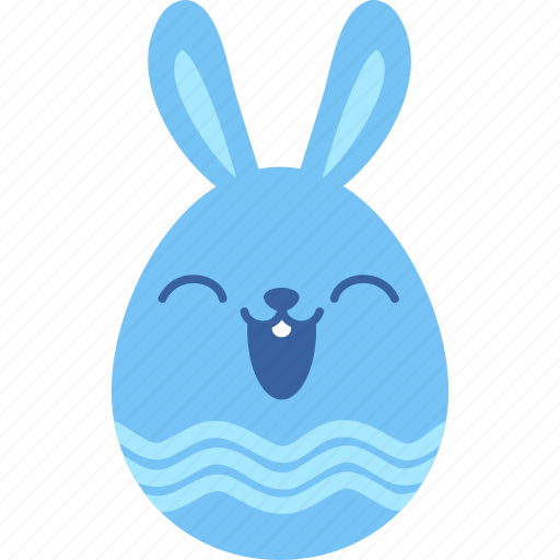 bunny, easter, egg, happy, laugh, rabbit, smile icon