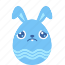 bunny, easter, egg, emotion, rabbit, sad, sorry icon