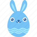 bunny, easter, egg, emoji, emotion, smile, smiley icon