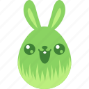 bunny, cute, easter, egg, emoji, emotion, rabbit icon