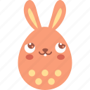 blush, bunny, dream, easter, egg, emoji, emotion icon