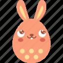 blush, bunny, dream, easter, egg, emoji, emotion