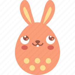 blush, bunny, dream, easter, egg, emoji, emotion icon
