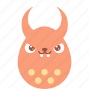 bad, bunny, demon, easter, egg, emoji, emotion icon