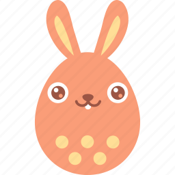 bunny, easter, egg, emoji, emotion, rabbit, smile icon
