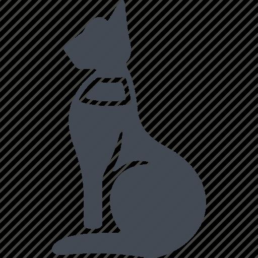 animal, cat, egipt, warmth and joy goddess icon