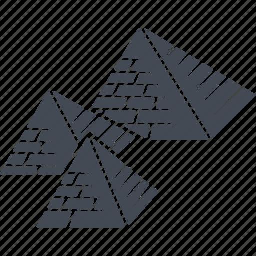 egipt, geometry, pyramid, pyramids icon